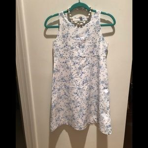 Designer Blue/White Floral Cotton Spring Beauty NW